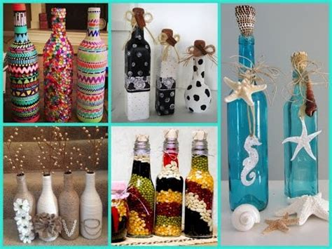 diy room decor beautiful bottle decorating ideas youtube