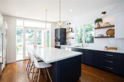images of kitchen floors fabulous kitchen features navy blue shaker cabinets 4638