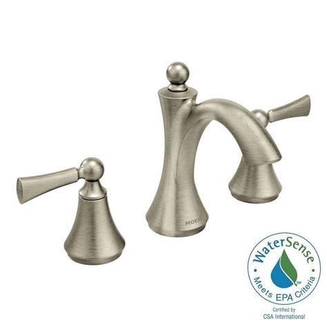 Moen Bath Faucet Handle by Moen Wynford 8 In Widespread 2 Handle High Arc Bathroom