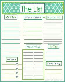 free printable quot to do quot list