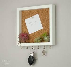 Pinnwand Selbst Gestalten : diy cooles schl sselboard mit pinnwand aus bilderrahmen ~ Lizthompson.info Haus und Dekorationen