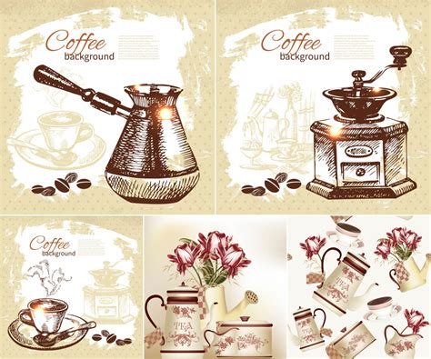 Hand Drawn Coffee Backgrounds Vector Coffee Grounds Plants Mold The House At Second And Bridge Tr?n N�o From Friends On Chestnut Pine Does Help Nha Trang Dogs