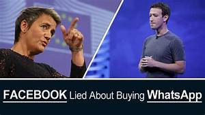 Facebook Lied About Buying WhatsApp