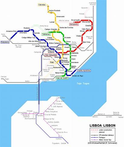 Lisbon Metro Lisboa Map Portugal Subway Transport