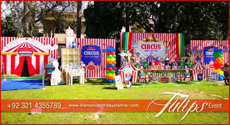 carnival circus themed birthday party planner  pakistan