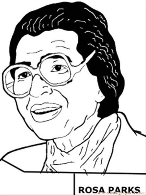 rosa parks coloring page  usa coloring pages coloringpagescom