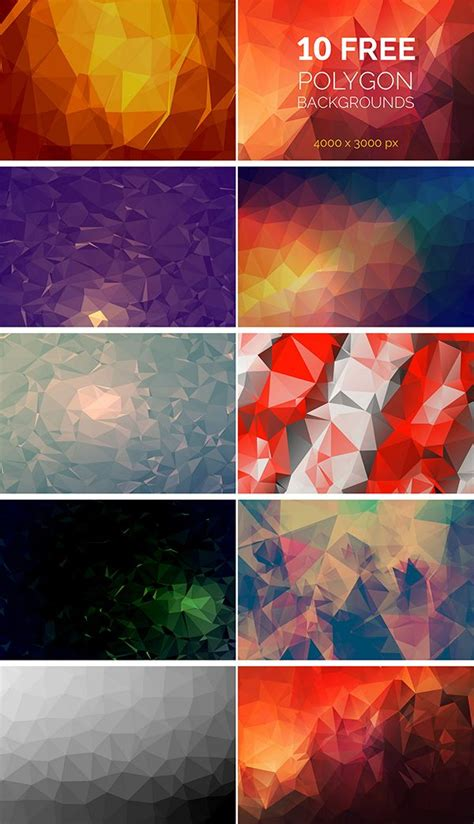wonderful  polygon background packs poster collage