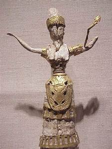 Minoan Snake Goddess Or Priestess Ivory And Gold 1750 To 1