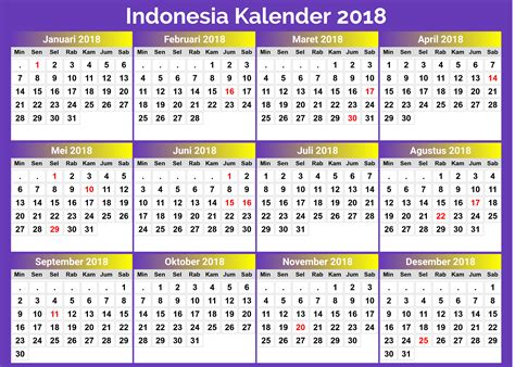 kalender indonesia calendarios hd