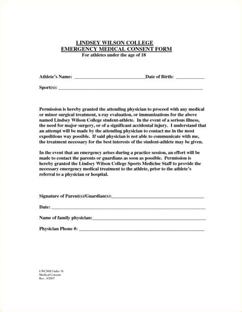 sle medical consent form for grandparents medical release form for grandparents template business