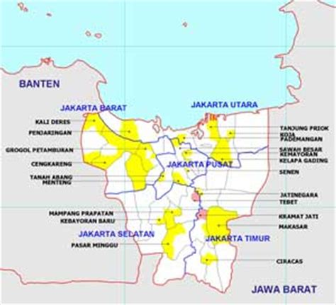 jakarta districts map