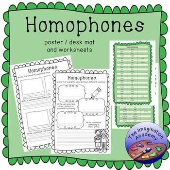 homophones  images homophones printable