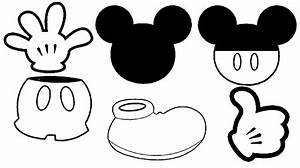 Minnie mouse head black mickey mouse head clip art ...
