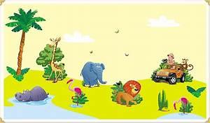 Wandtattoo Kinderzimmer Dschungel : wandaufkleber set afrika setbeschreibung funny colors ~ Orissabook.com Haus und Dekorationen