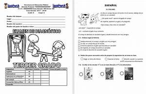 Examen de diagnóstico del tercer grado del ciclo escolar 2017 2018 Educación Primaria