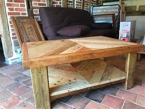 Table Basse Palettes : table basse en bois de palette et de r cup ration youtube ~ Melissatoandfro.com Idées de Décoration