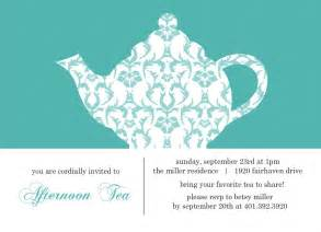 kitchen tea invites ideas turquoise damask tea invitation template