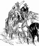 Stagecoach Clipart West Drawing Drawings Western Etc Clip Sketches Sketch Wild Cowboy Town Stage Usf Edu Line Scene Story Saloon sketch template