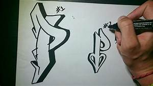 "How to draw Graffiti Letter ""P"" on paper - YouTube"