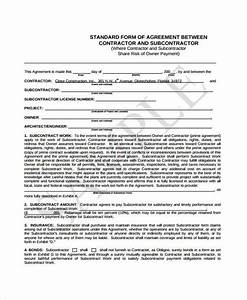 sample subcontractor contract forms 7 free documents in With standard subcontract agreement template