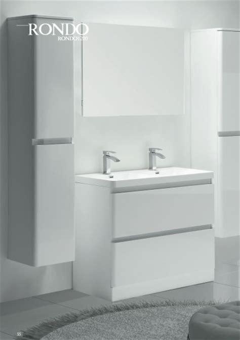 meuble salle de bain blanc laque brillant meubles lave mains robinetteries meubles sdb meuble de salle de bain 120 cm rondo 1200