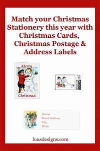 Lou39s designs for Christmas cards with matching address labels