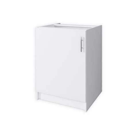 meuble bas cuisine 60 cm obi meuble bas de cuisine l 60 cm blanc mat achat