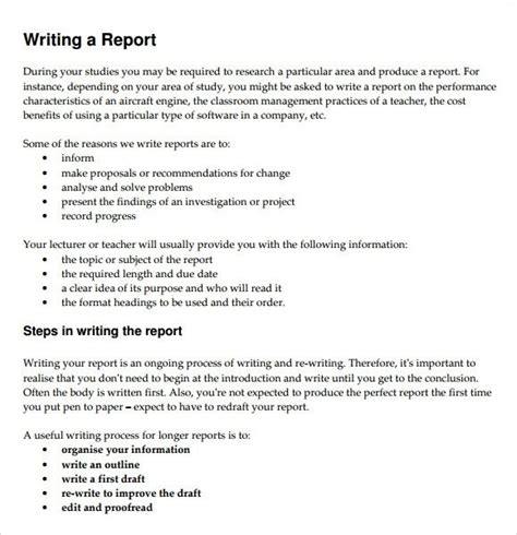report writing examples examples