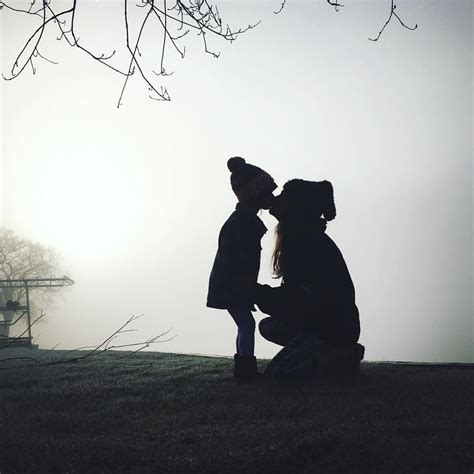mother daughter foggy silhouettes littles mother