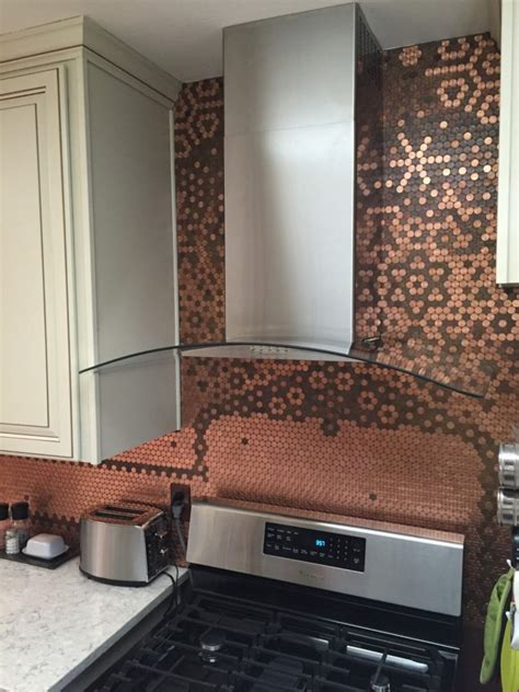 Learn How To Make A Penny Backsplash  Tutorial And. Dining Room Chair Rail Ideas. Size Of Living Room. Living Room Wall Sconce. Soft Blue Living Room. Mission Dining Room Chairs. Matching Living Room Chairs. How To Decorate With Curtains Living Room. Ideas For Colours In Living Room