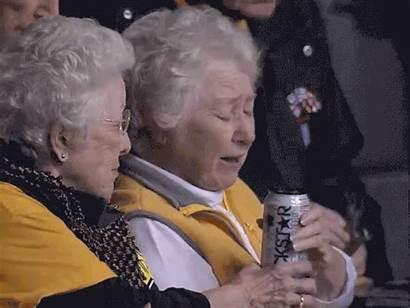 Grandma Drink Energy Gifs Lady Nana Increases