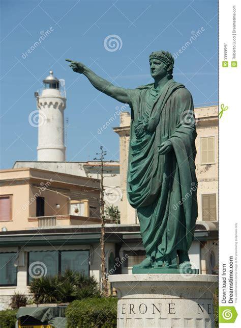 roman emperor nero statue  anzio italy stock photo