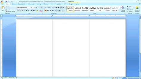 Tri Fold Template Word 2007 by Template Microsoft Word Tri Fold Template