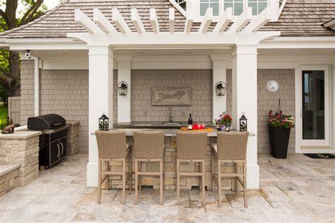 outdoor kitchen bar craftsman patio minneapolis by