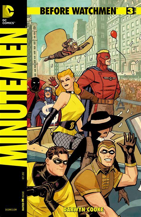 minutemen watchmen dc comics