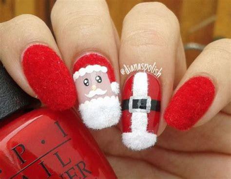 christmas santa nail art designs ideas  xmas