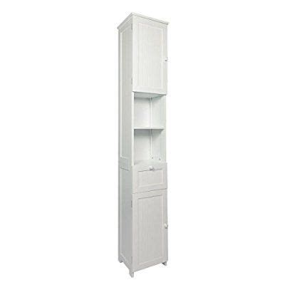 woodluv slim shaker tall boy free standing bathroom