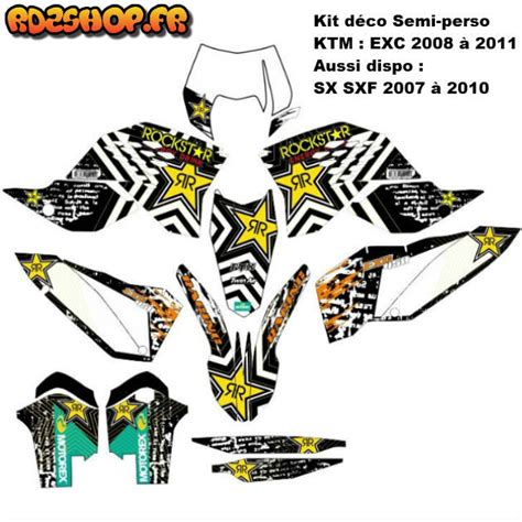 kit d 233 co semi perso ktm sx sxf exc 07 224 11 rd2shop fr