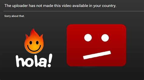 fix youtube video     country  hola