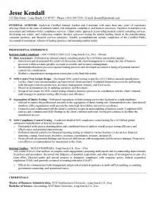 Auditor Resume Format 2015 by Exle Auditor Resume Free Sle