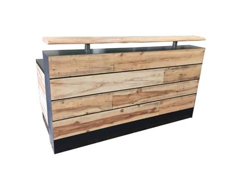 reclaimed wood reception desk buy a made 17 pine reclaimed wood reception desk or 4536