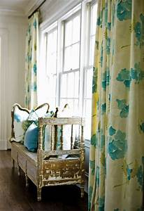 turquoise and yellow drapes dining room meg adams With aqua curtains living room