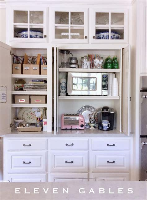 eleven gables hidden appliance cabinet  desk command