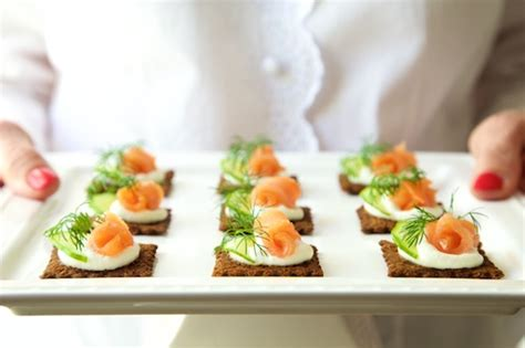 beautiful canapes recipes goat cheese mousse and smoked salmon canapés the