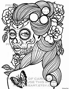 Day of the Dead Tattoo Flash - Digital Download Print Your ...