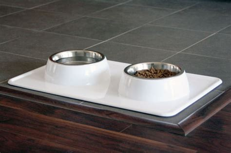 elevated cat food table dog bowl tray from a la mode dog dog milk