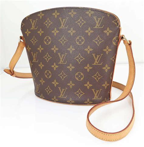 authentic louis vuitton drouot monogram crossbody shoulder bag purse  handbags purses