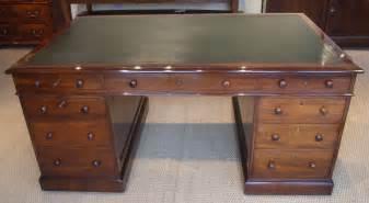 antique large mahogany partners desk maitland smith