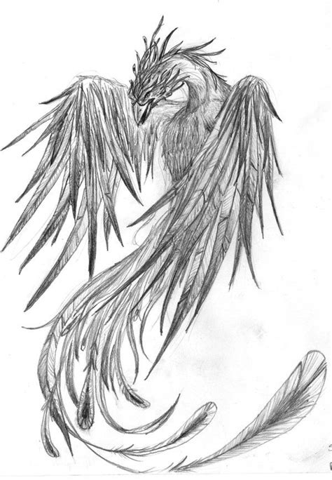 I like the pose of this one for a possible side tat Phoenix - by xnoxdeax (deviantart) | bored