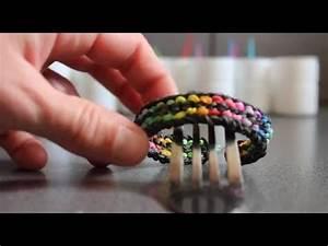 Bracelet Avec Elastique : faire un bracelet plat avec les lastiques sur une fourchette pli e youtube ~ Melissatoandfro.com Idées de Décoration